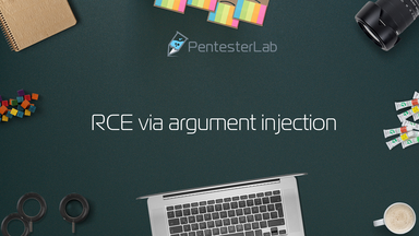 image for RCE via argument injection